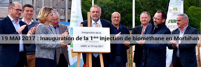 Inauguration de la 1ère injection de biométhane en Morbihan